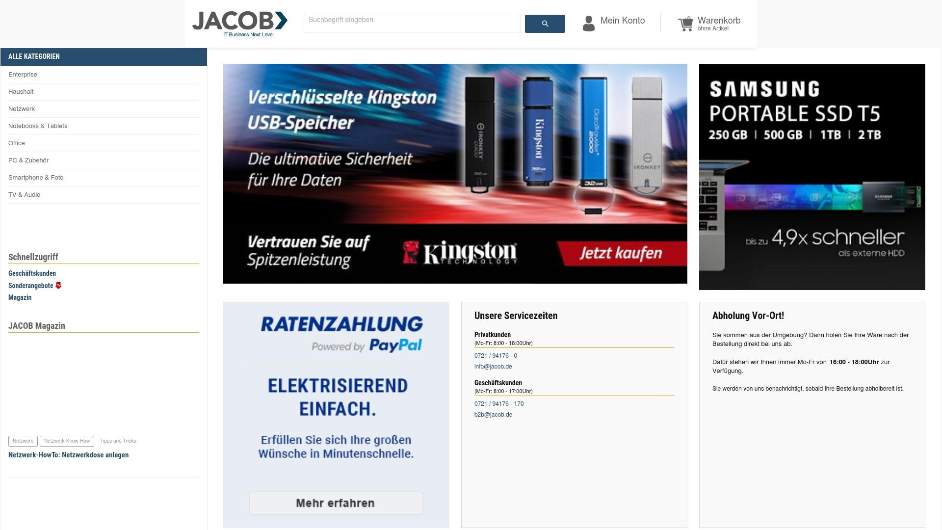 Gutschein für Jacob-computer: Rabatte für  Jacob-computer sichern