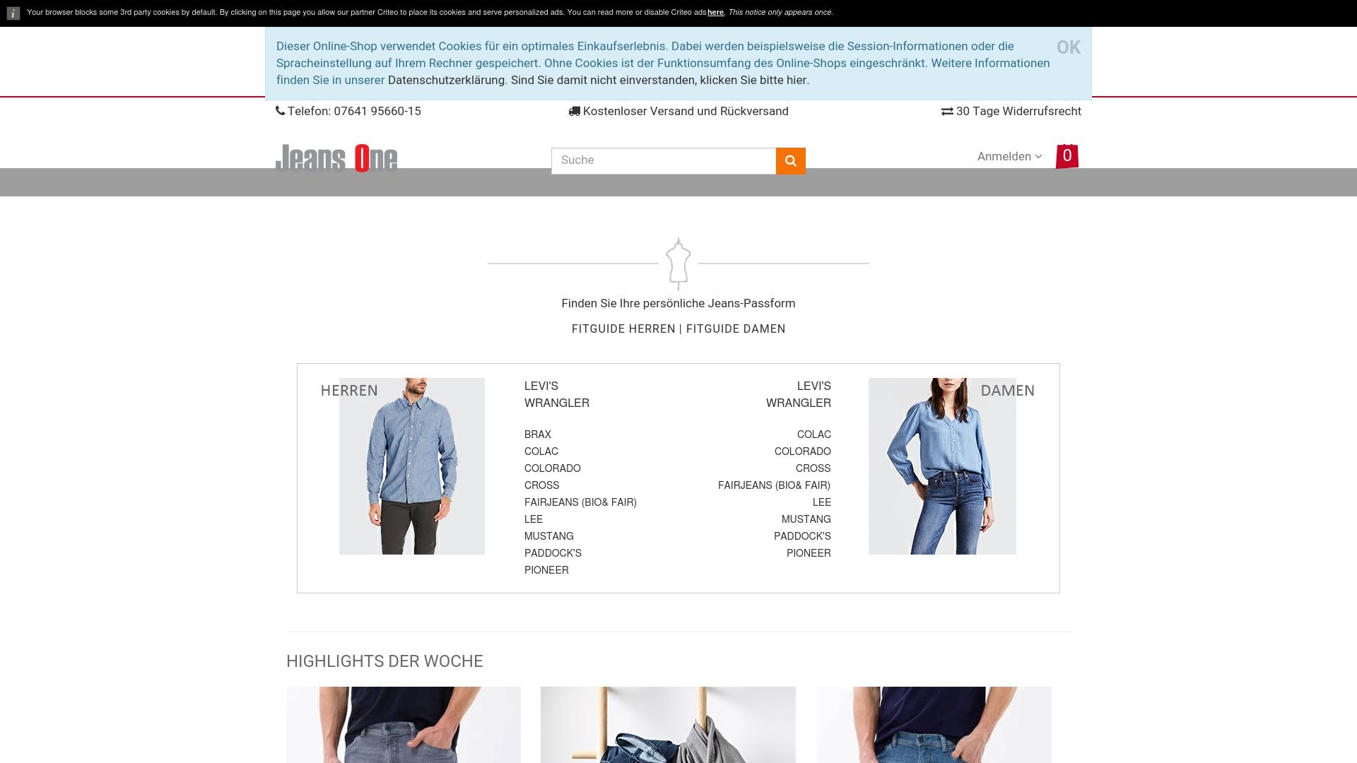 Gutschein für Jeans-one: Rabatte für  Jeans-one sichern