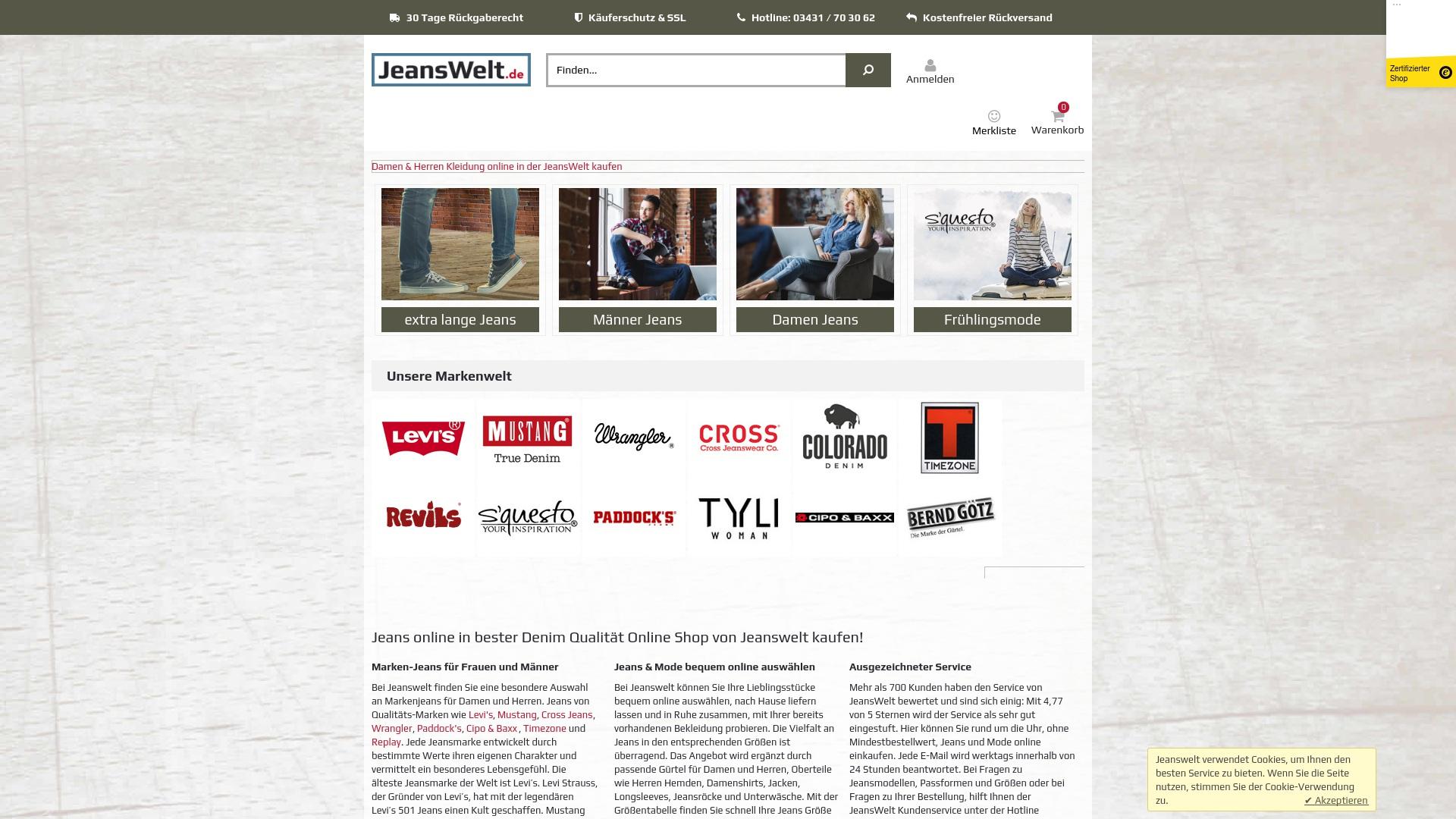 Gutschein für Jeanswelt: Rabatte für  Jeanswelt sichern