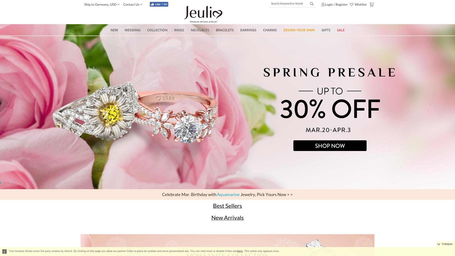 Gutschein für Jeulia: Rabatte für  Jeulia sichern