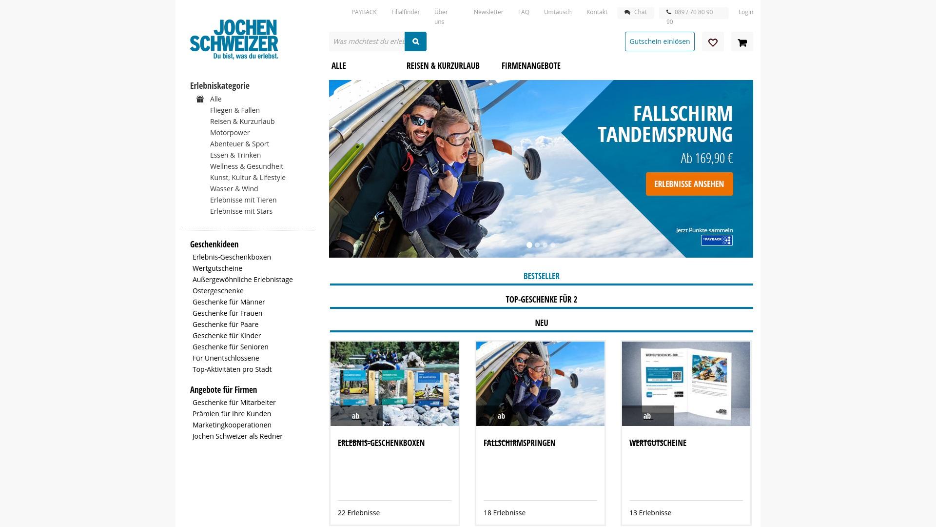 Gutschein für Jochen-schweizer: Rabatte für  Jochen-schweizer sichern