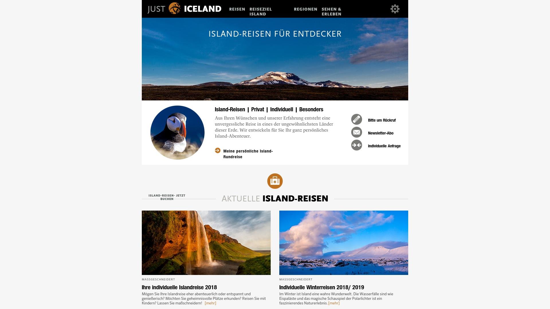 Gutschein für Just-iceland: Rabatte für  Just-iceland sichern