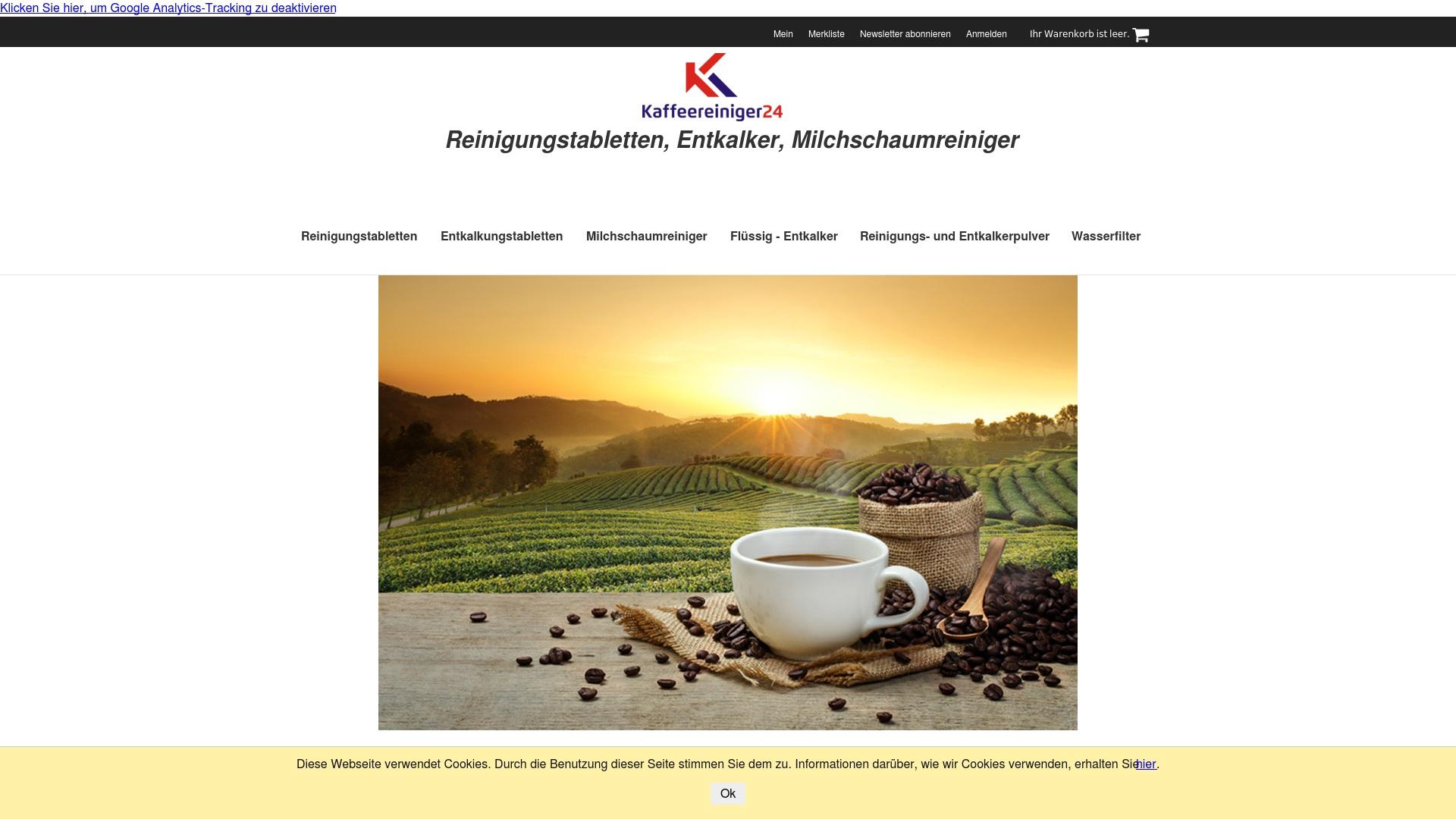 Gutschein für Kaffeereiniger24: Rabatte für  Kaffeereiniger24 sichern