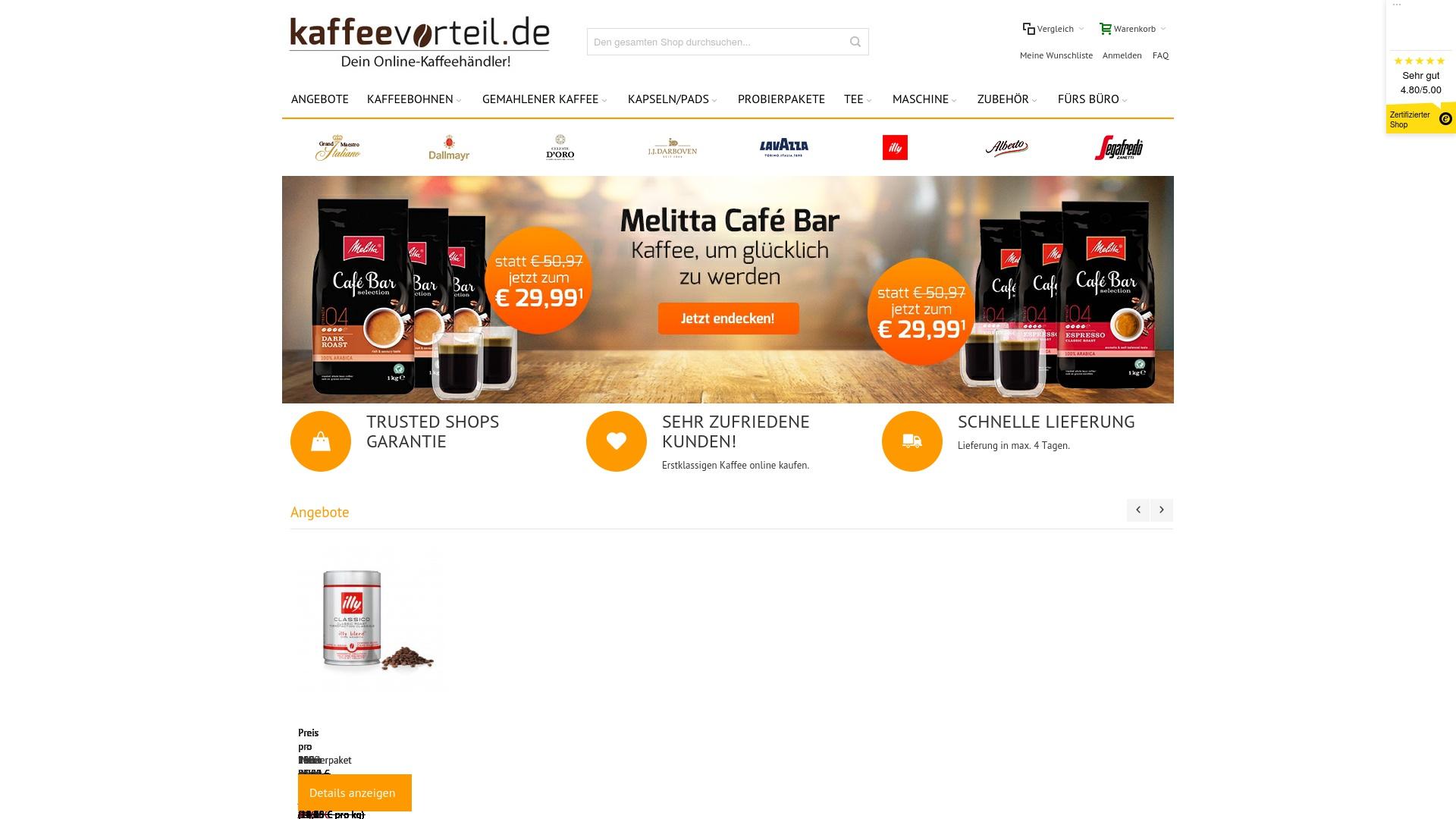 Gutschein für Kaffeevorteil: Rabatte für  Kaffeevorteil sichern