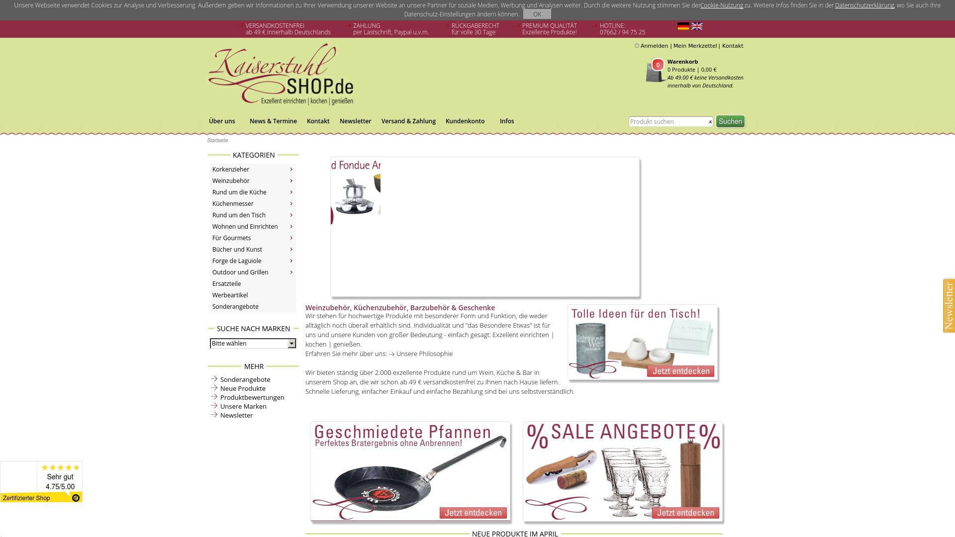 Gutschein für Kaiserstuhlshop: Rabatte für  Kaiserstuhlshop sichern