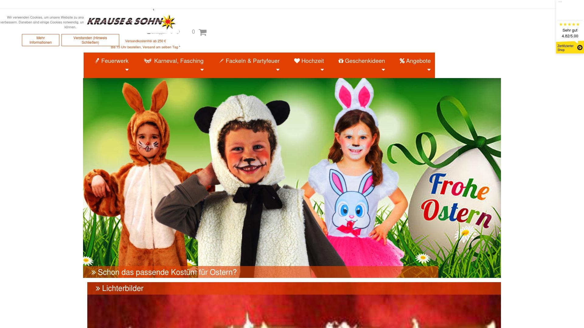 Gutschein für Karneval-feuerwerk: Rabatte für  Karneval-feuerwerk sichern