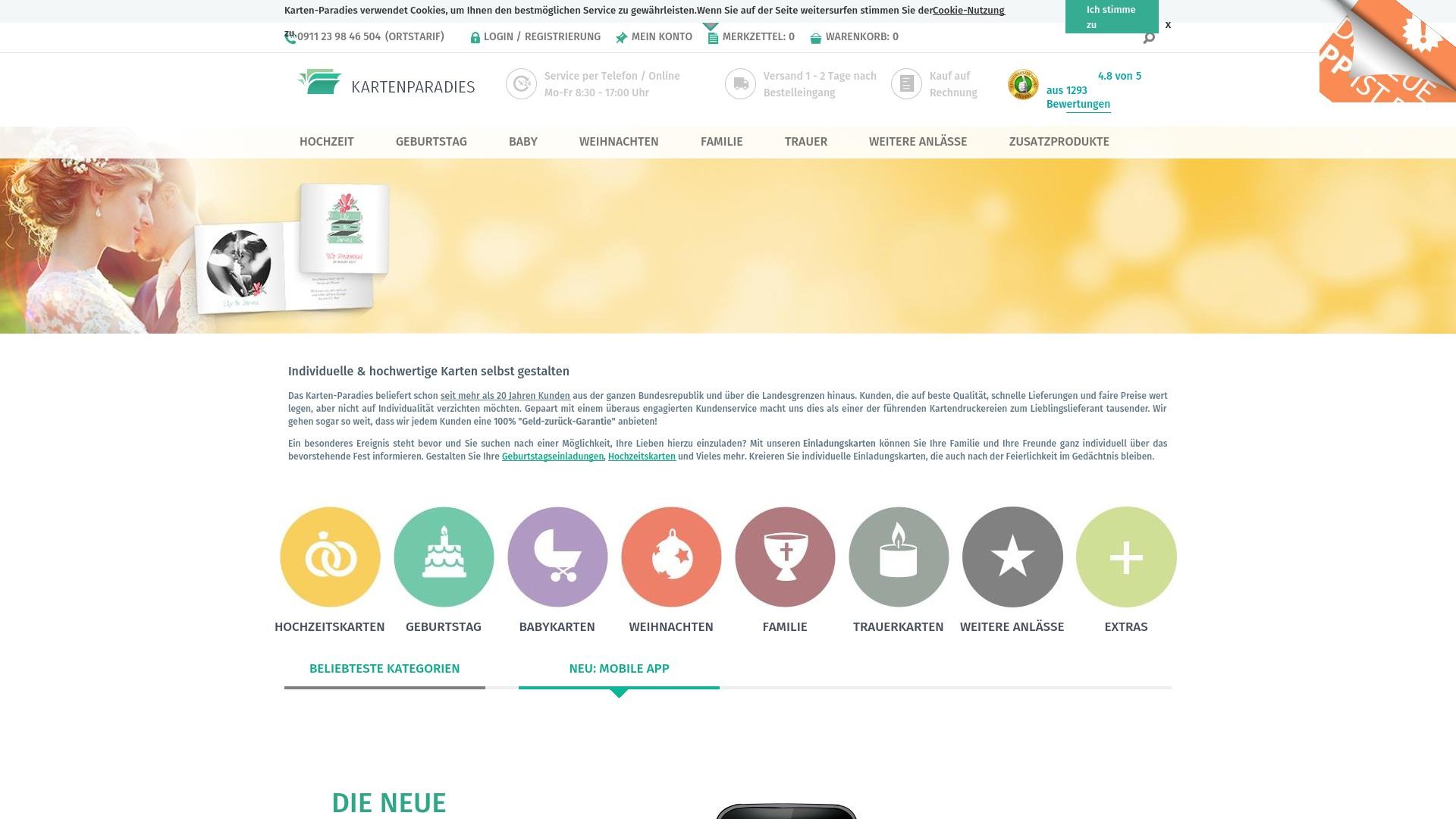 Gutschein für Karten-paradies: Rabatte für  Karten-paradies sichern
