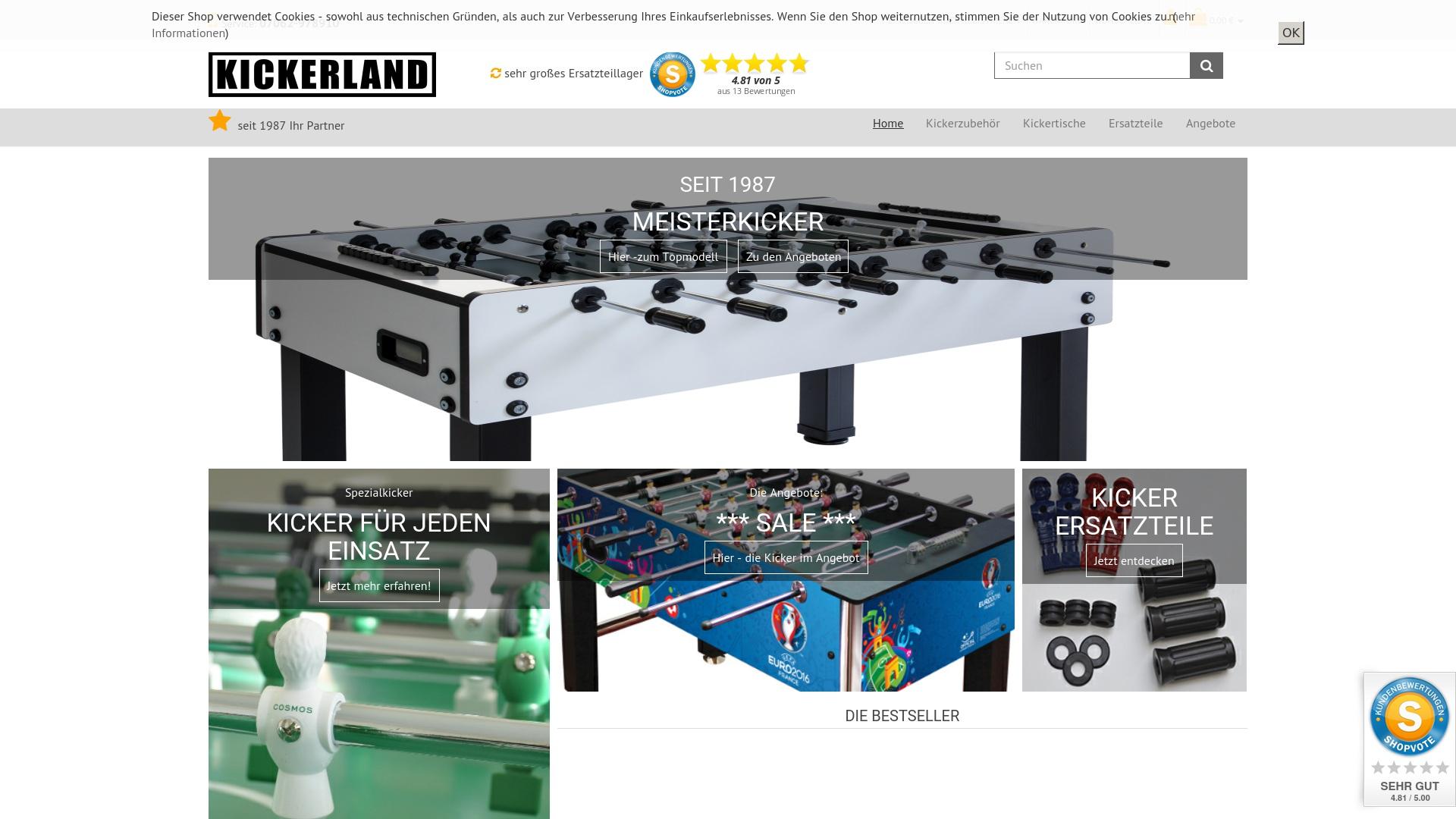 Gutschein für Kickerland: Rabatte für  Kickerland sichern
