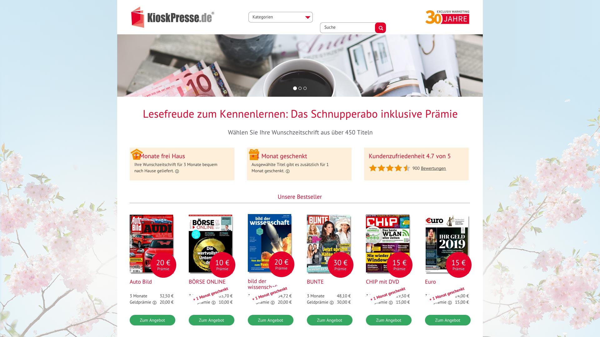 Gutschein für Kioskpresse: Rabatte für  Kioskpresse sichern