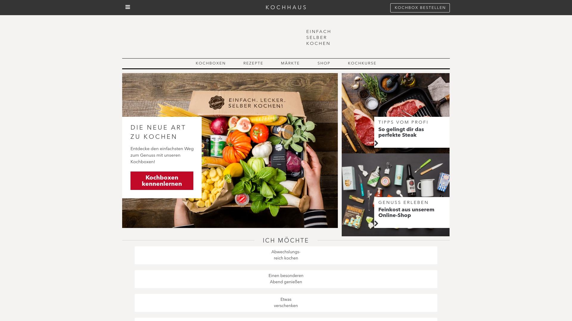 Gutschein für Kochhaus: Rabatte für  Kochhaus sichern