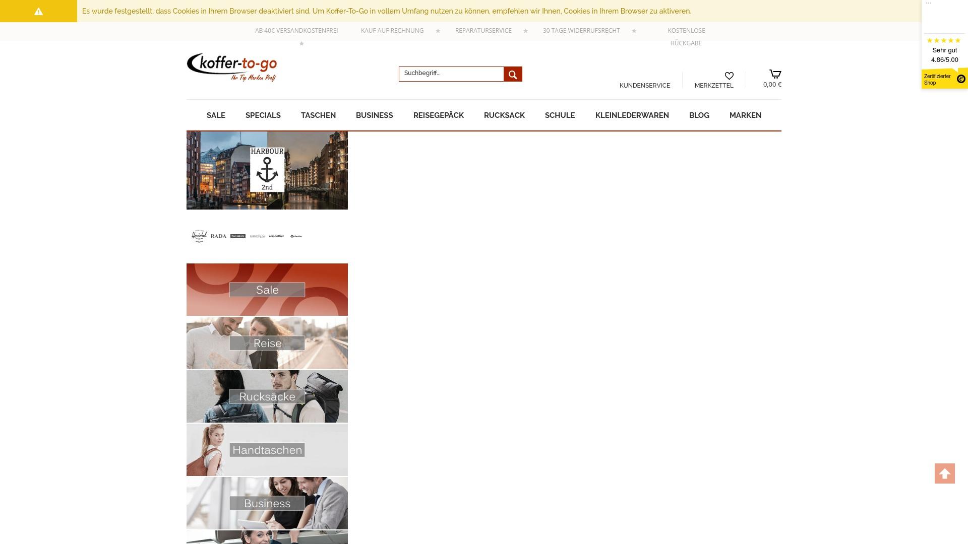 Gutschein für Koffer-to-go: Rabatte für  Koffer-to-go sichern