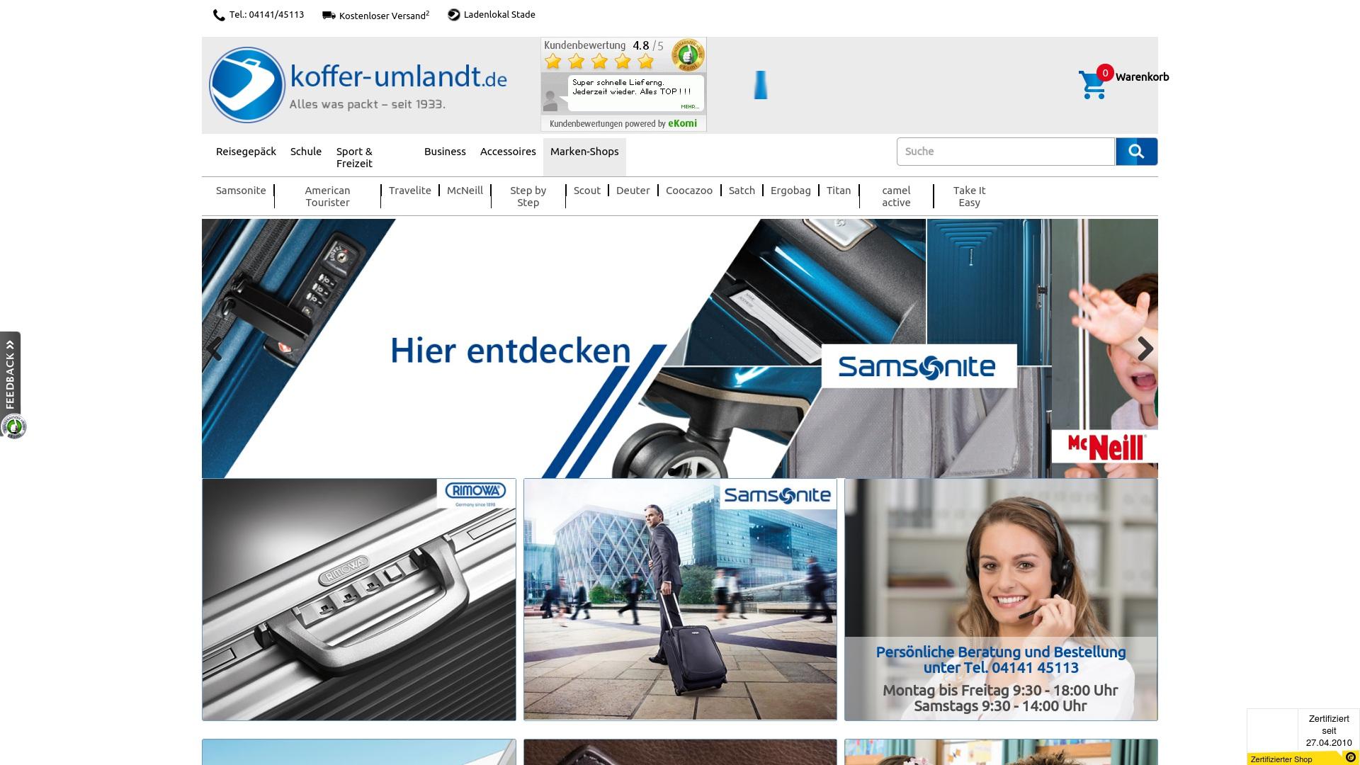 Gutschein für Koffer-umlandt: Rabatte für  Koffer-umlandt sichern