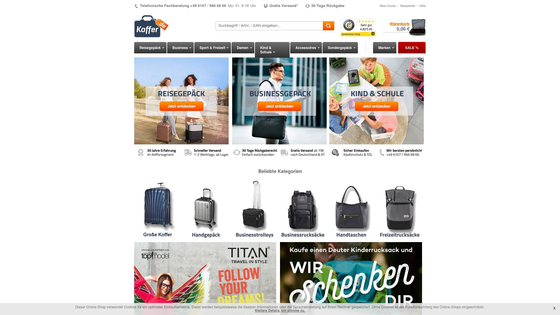 Gutschein für Koffer: Rabatte für  Koffer sichern