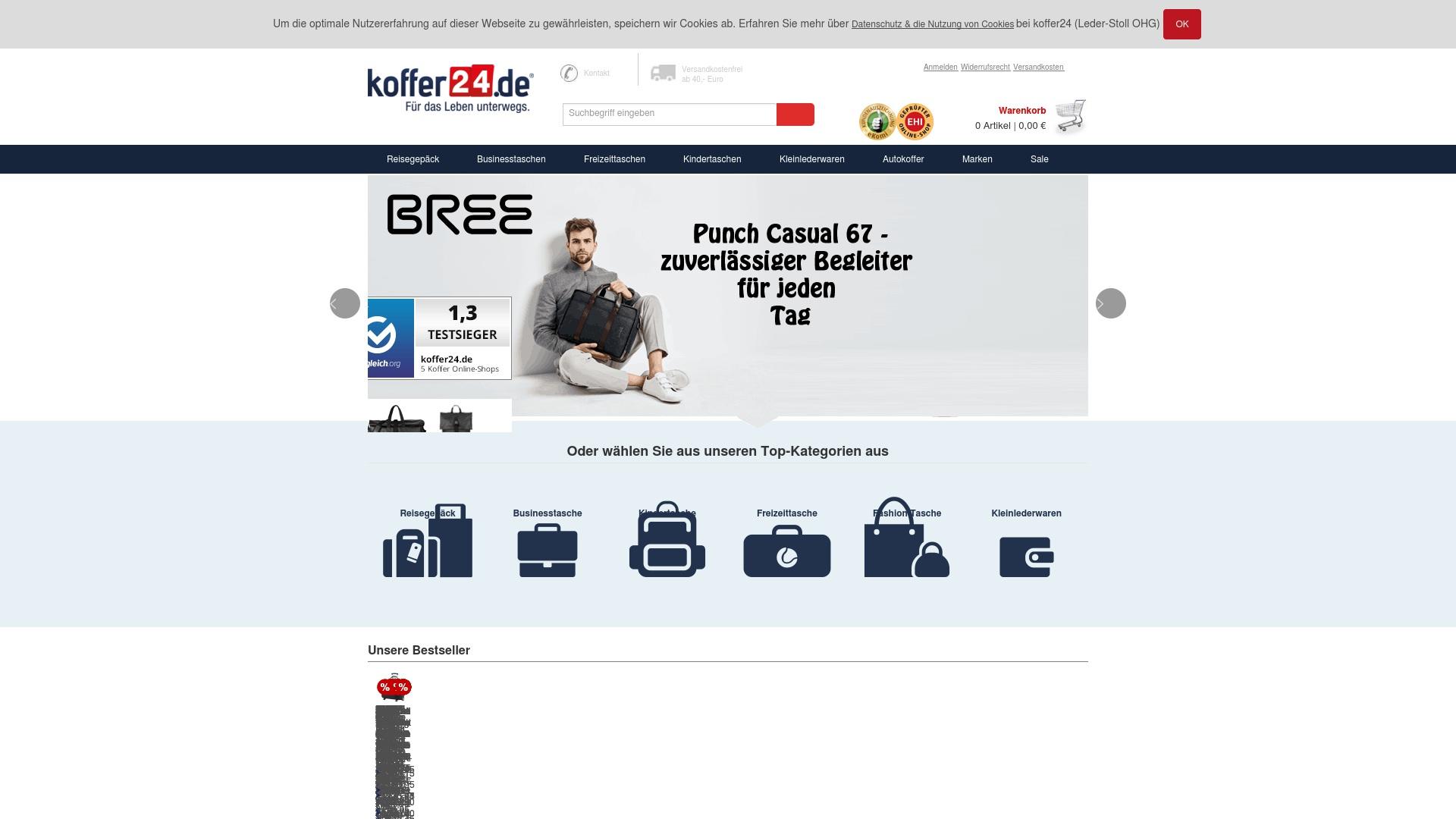 Gutschein für Koffer24: Rabatte für  Koffer24 sichern