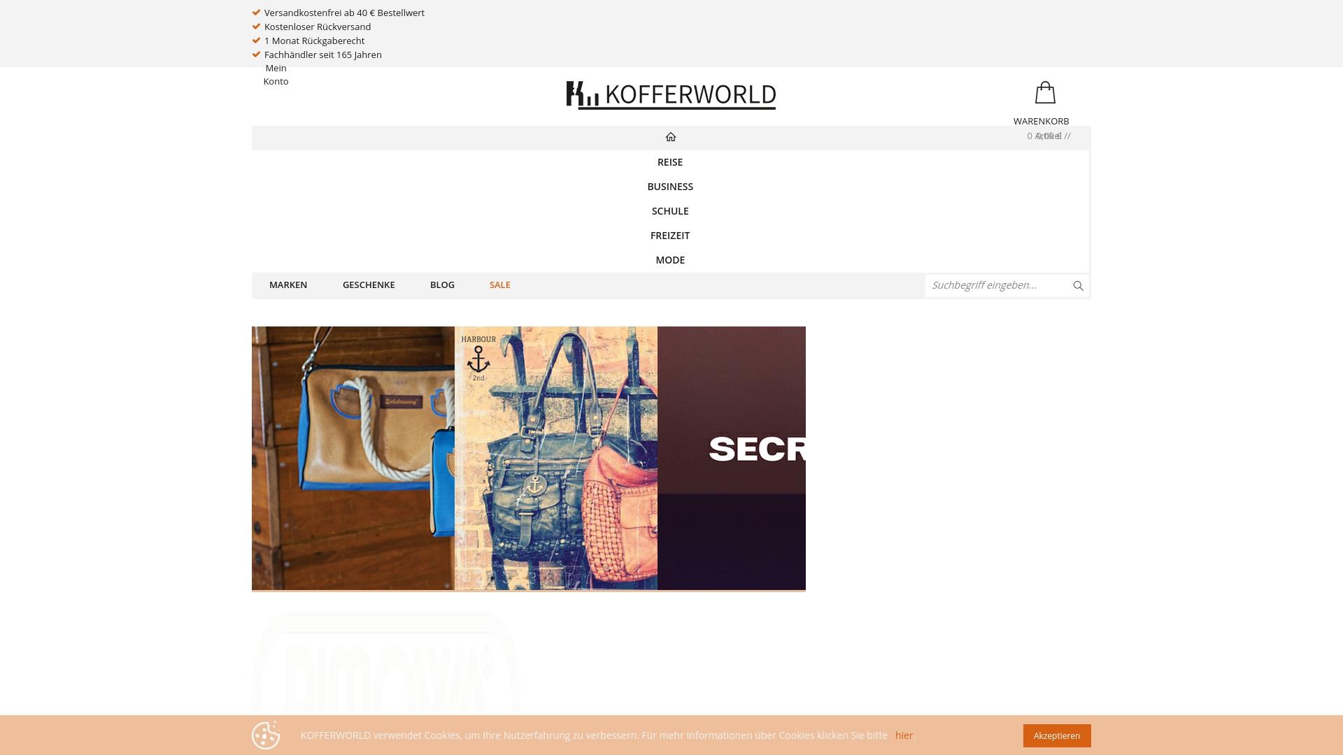 Gutschein für Kofferworld: Rabatte für  Kofferworld sichern