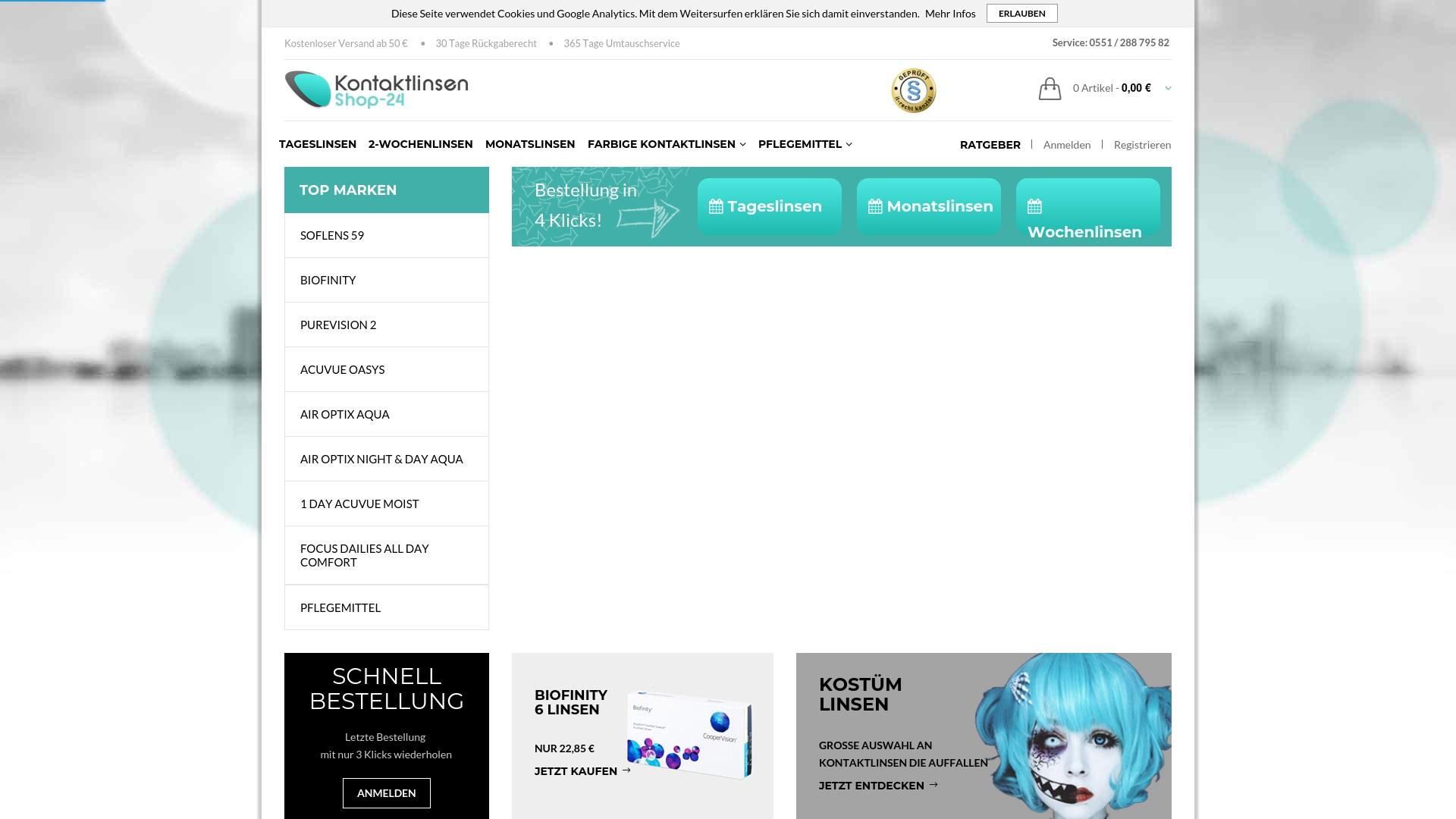 Gutschein für Kontaktlinsenshop-24: Rabatte für  Kontaktlinsenshop-24 sichern