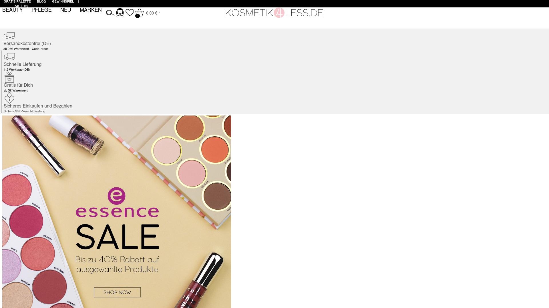 Gutschein für Kosmetik4less: Rabatte für  Kosmetik4less sichern