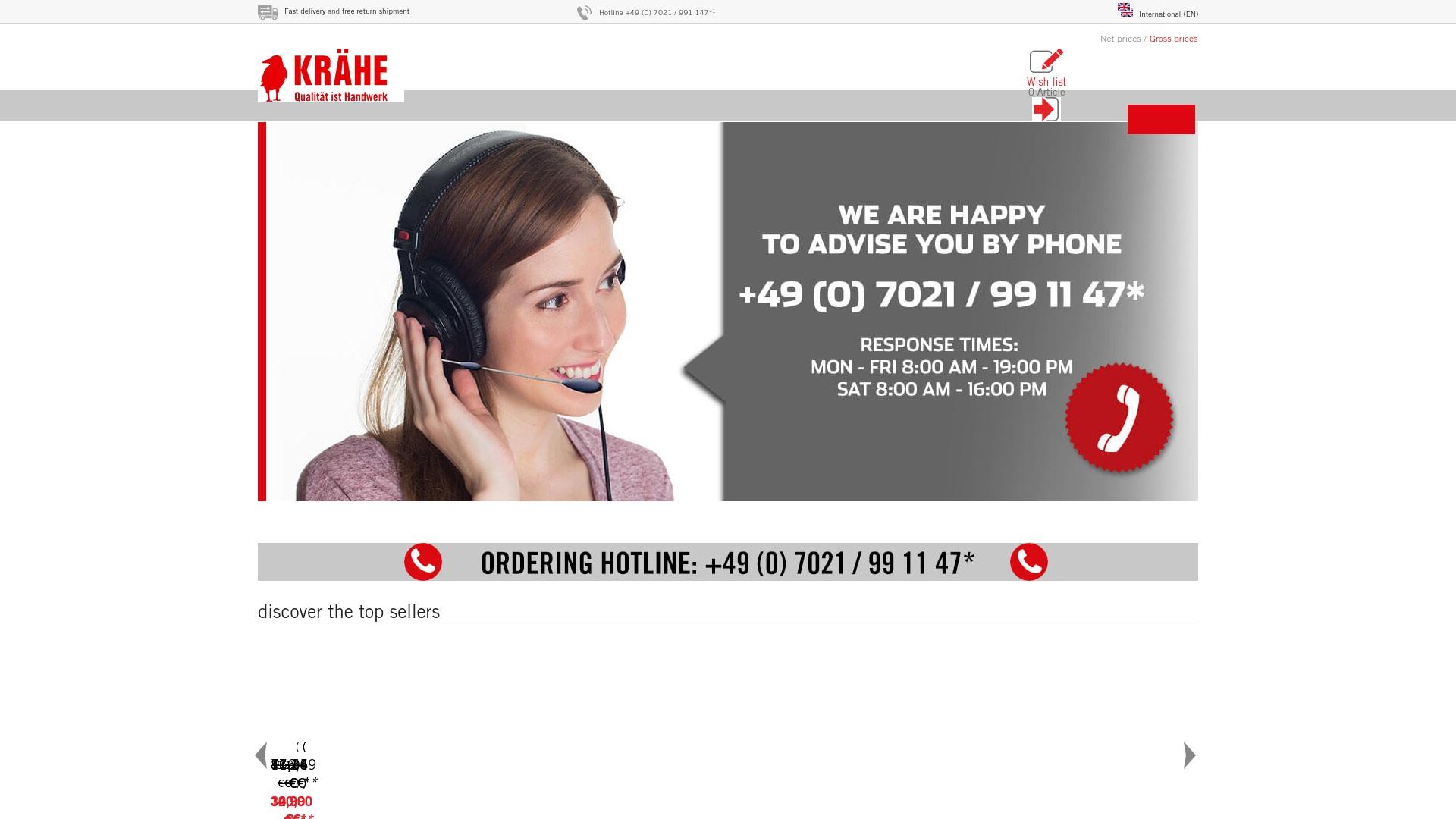 Gutschein für Kraehe: Rabatte für  Kraehe sichern