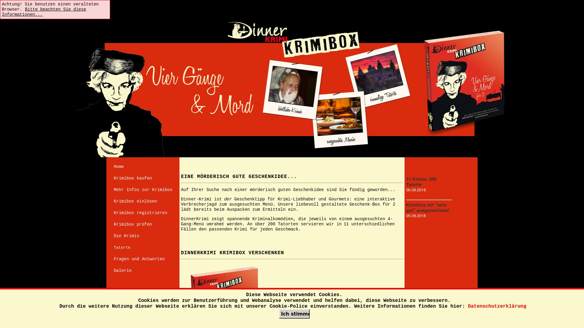 Gutschein für Krimibox: Rabatte für  Krimibox sichern