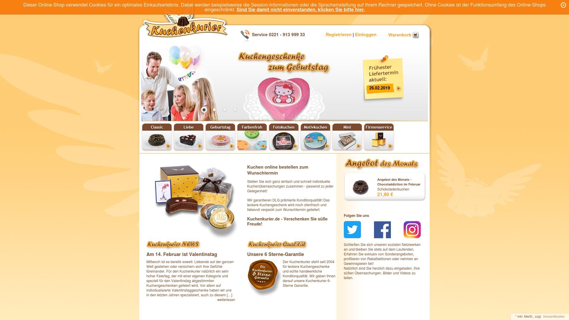 Gutschein für Kuchenkurier: Rabatte für  Kuchenkurier sichern