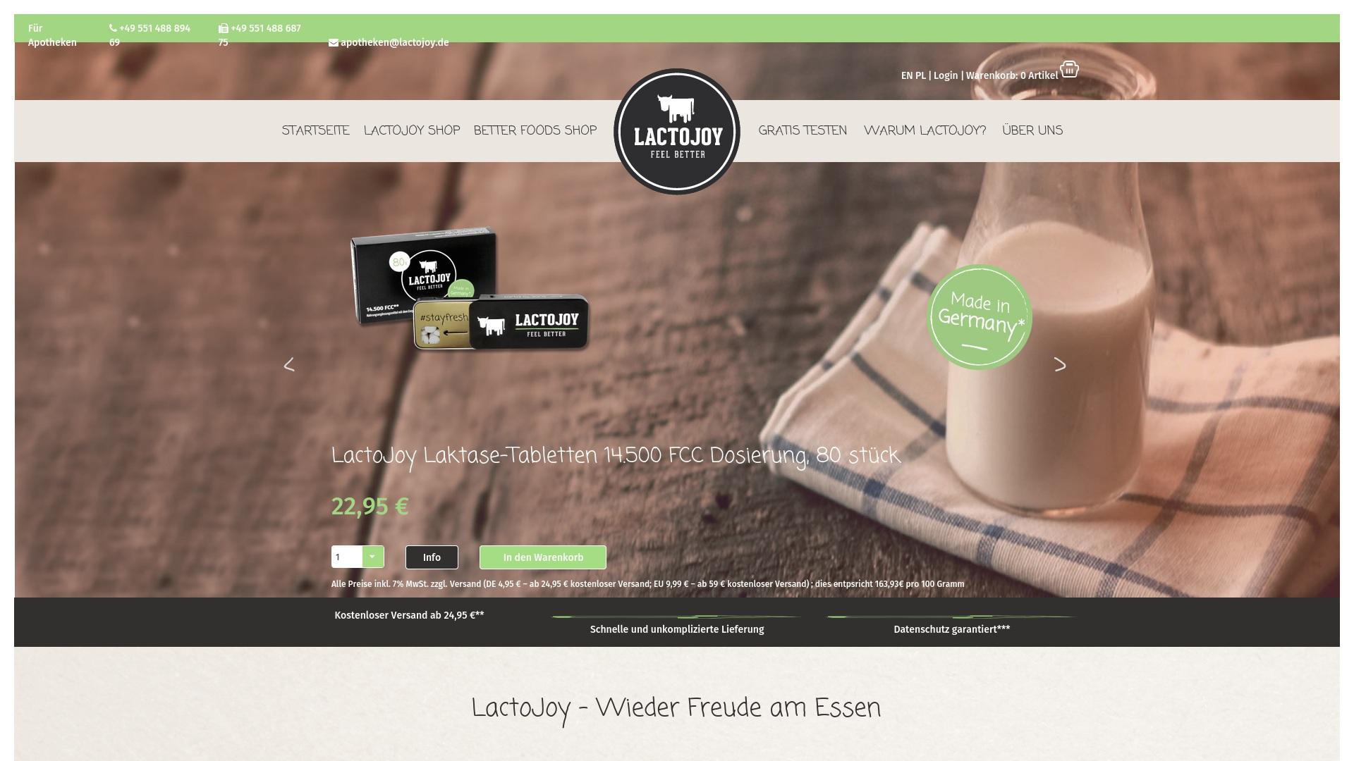 Gutschein für Lactojoy: Rabatte für  Lactojoy sichern