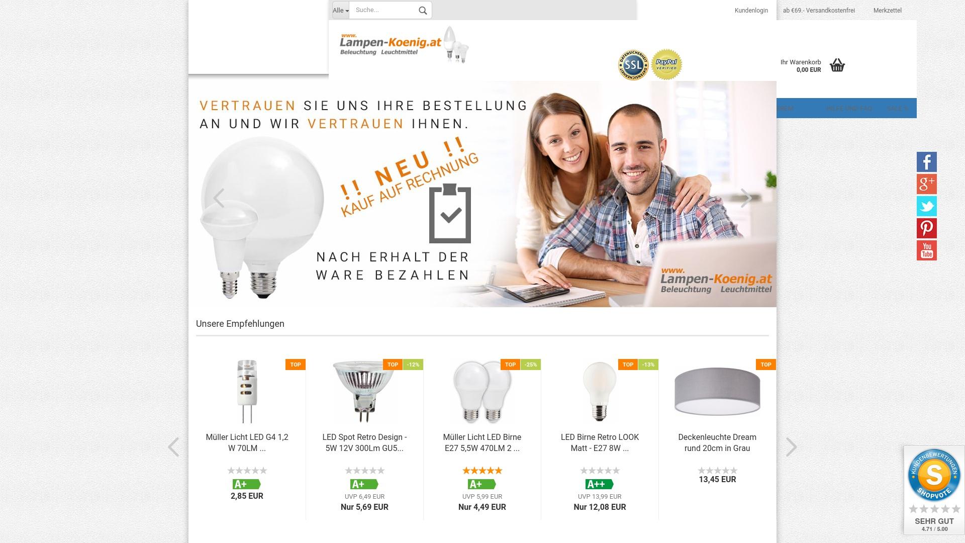 Gutschein für Lampen-koenig: Rabatte für  Lampen-koenig sichern