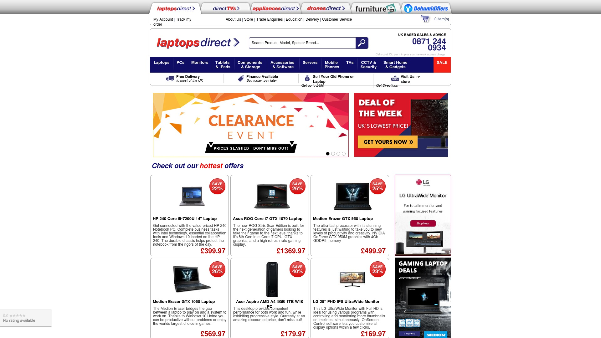 Gutschein für Laptopsdirect: Rabatte für  Laptopsdirect sichern