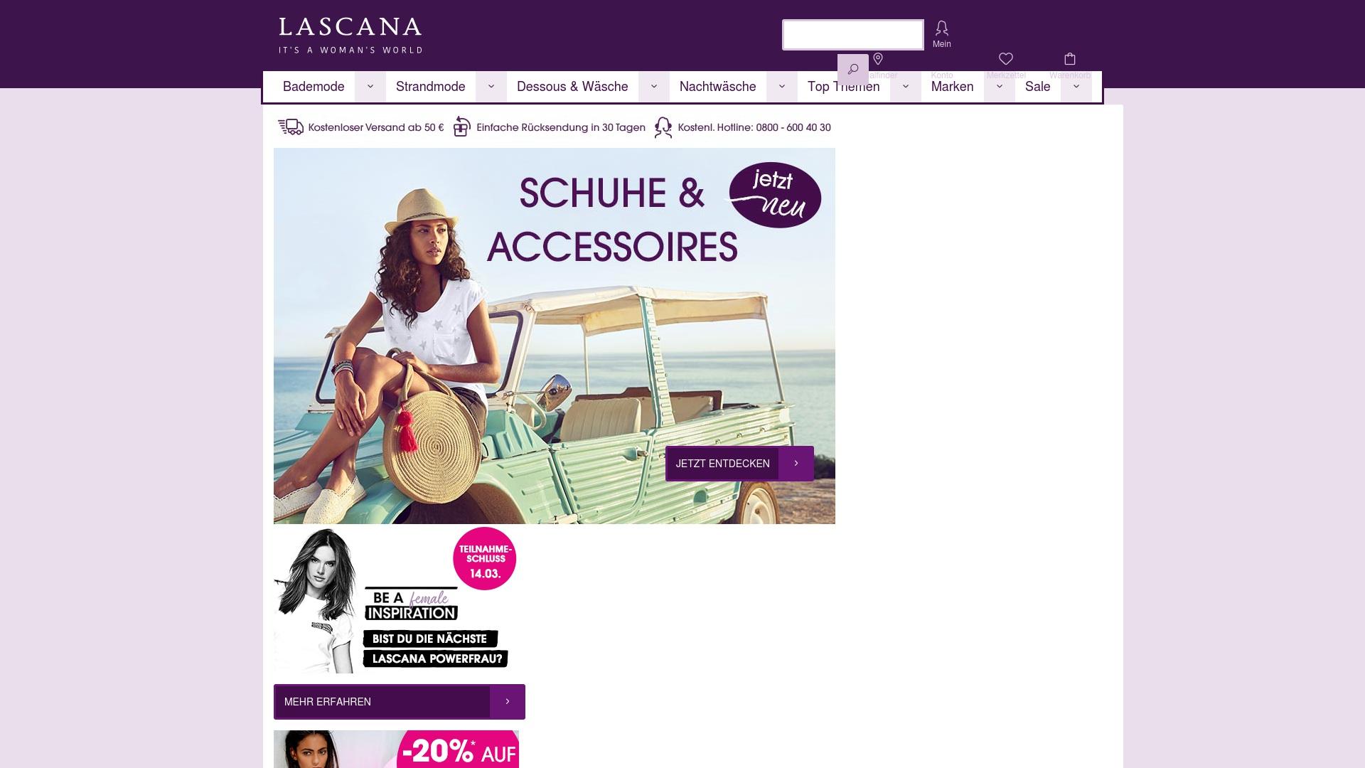 Gutschein für Lascana: Rabatte für  Lascana sichern