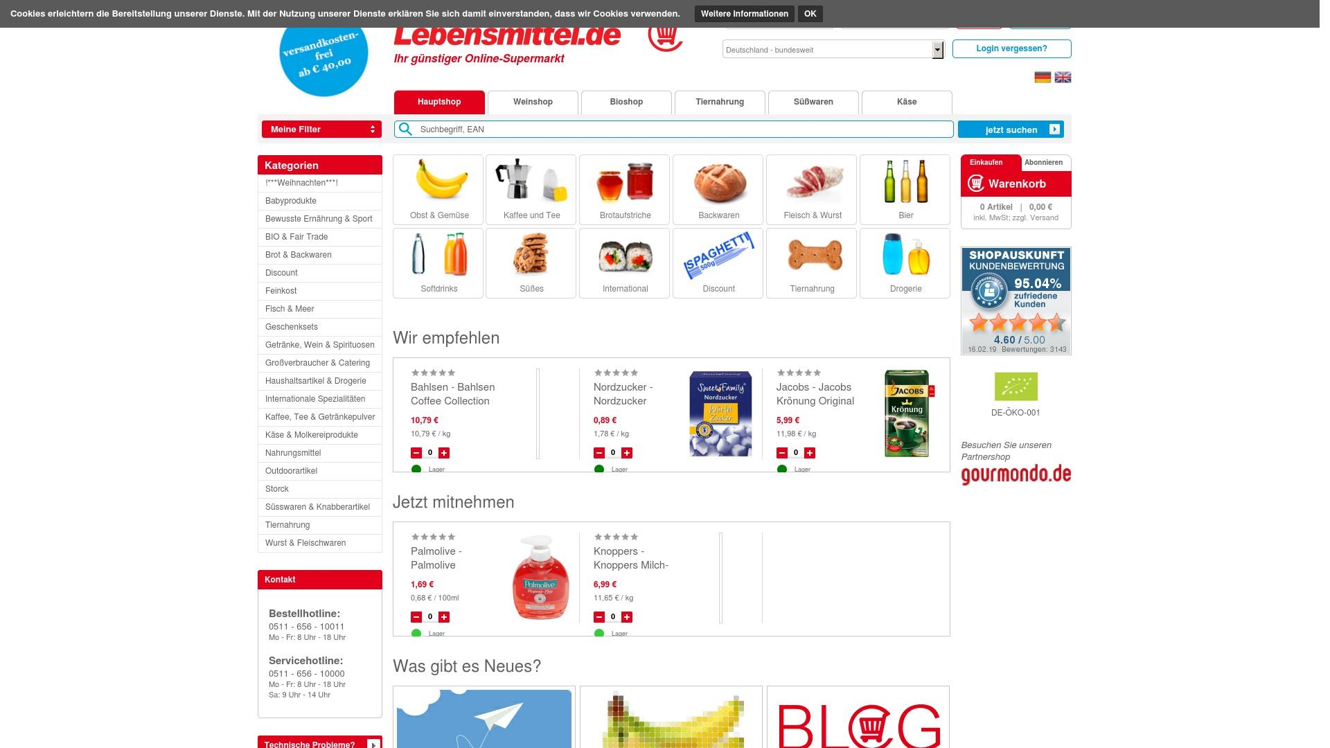 Gutschein für Lebensmittel: Rabatte für  Lebensmittel sichern