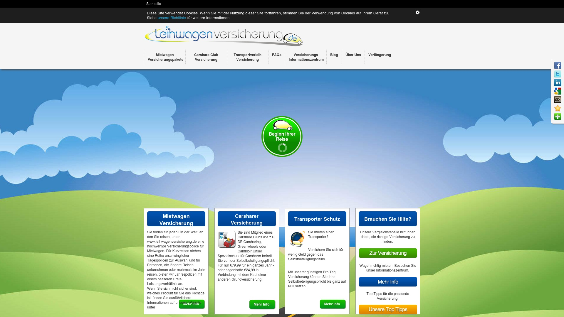 Gutschein für Leihwagenversicherung: Rabatte für  Leihwagenversicherung sichern