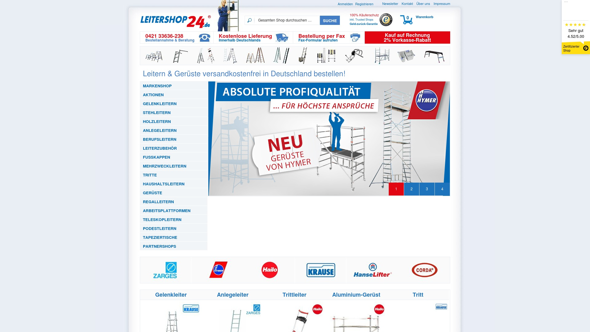 Gutschein für Leitershop24: Rabatte für  Leitershop24 sichern