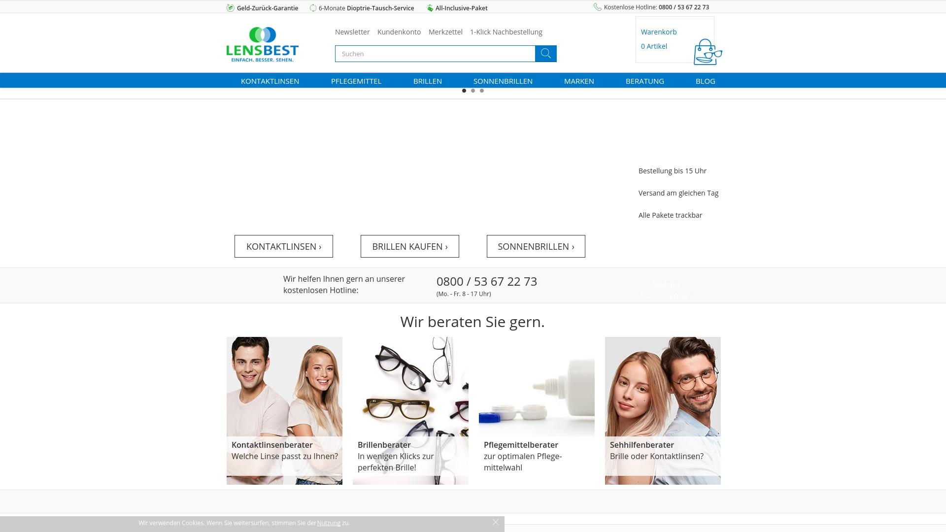 Gutschein für Lensbest: Rabatte für  Lensbest sichern