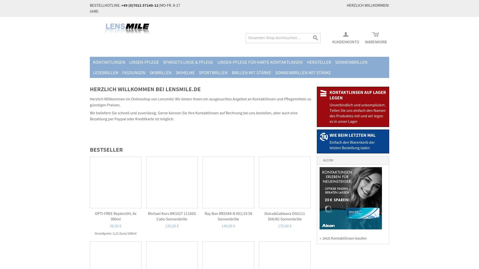 Gutschein für Lensmile: Rabatte für  Lensmile sichern