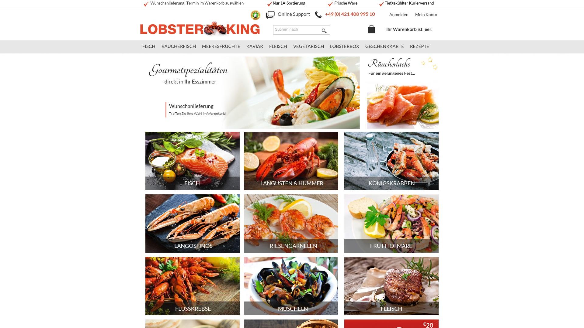 Gutschein für Lobsterking: Rabatte für  Lobsterking sichern