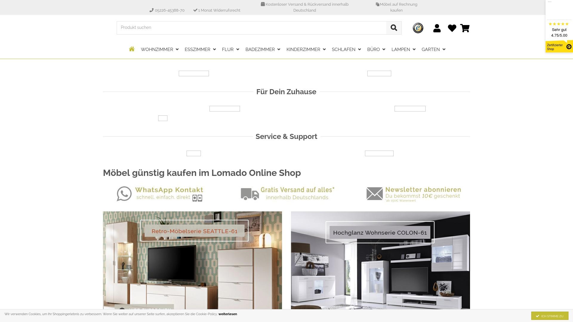 Gutschein für Lomado: Rabatte für  Lomado sichern