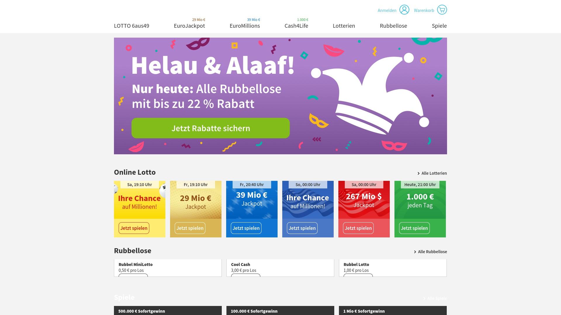 Gutschein für Lottohelden: Rabatte für  Lottohelden sichern