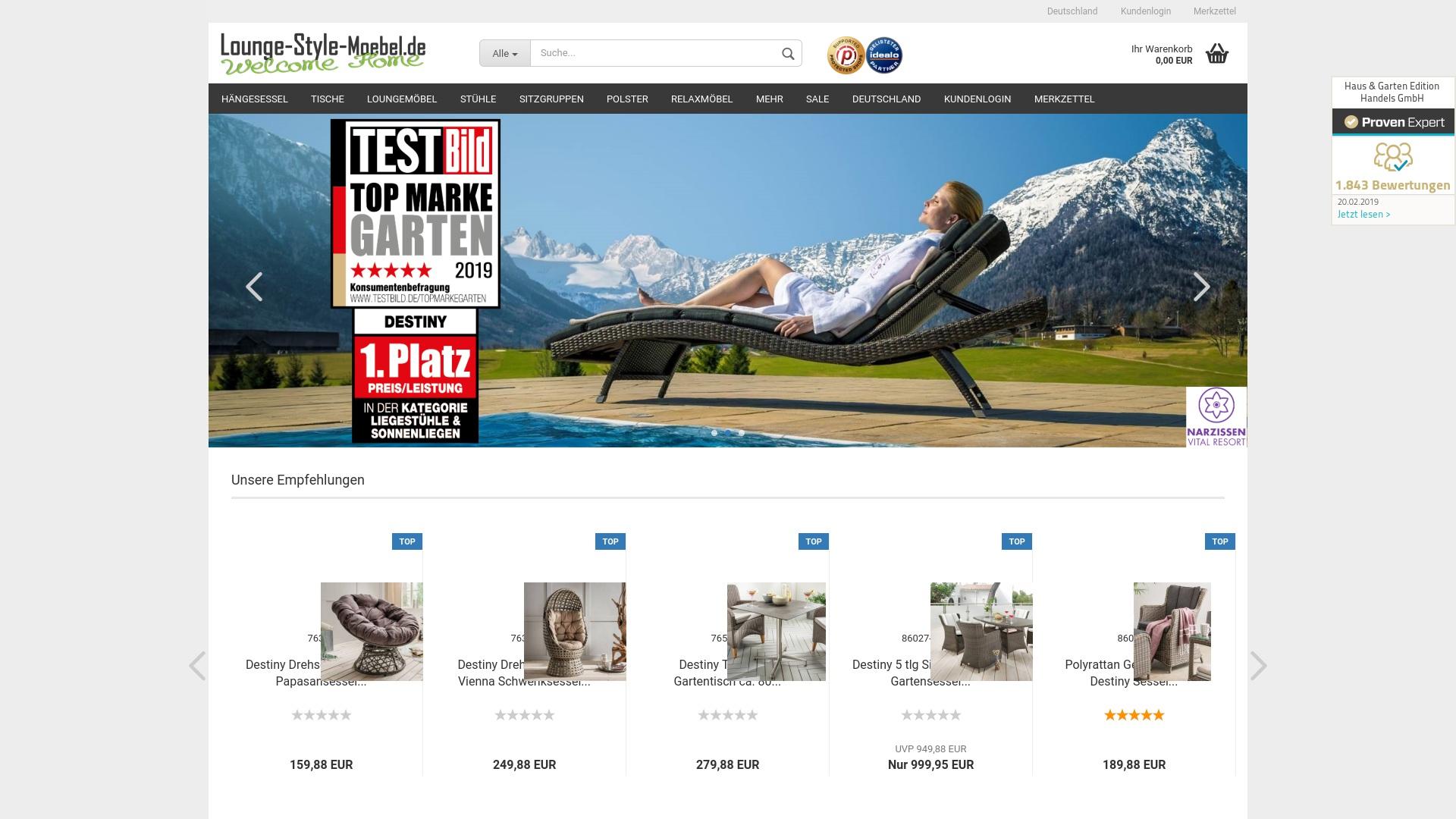 Gutschein für Lounge-style-moebel: Rabatte für  Lounge-style-moebel sichern