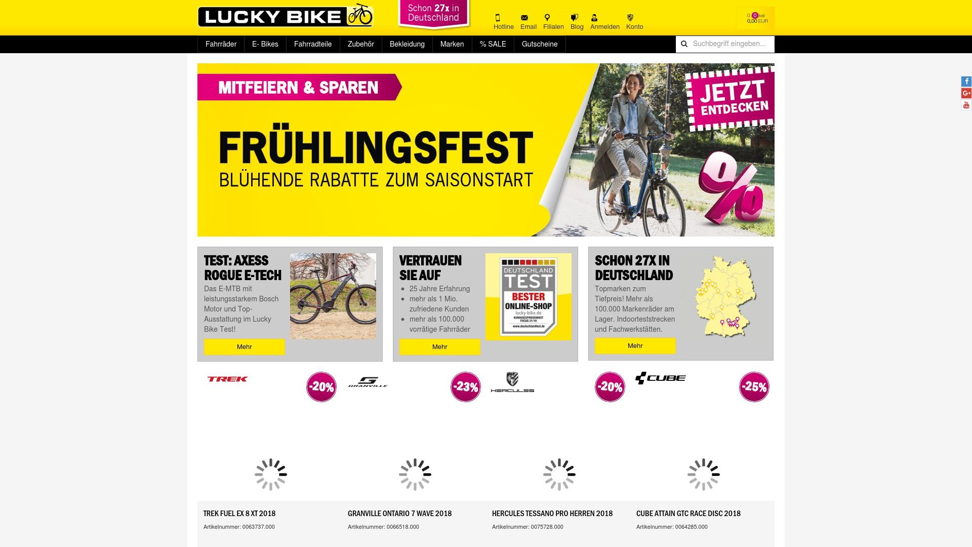 Gutschein für Lucky-bike: Rabatte für  Lucky-bike sichern