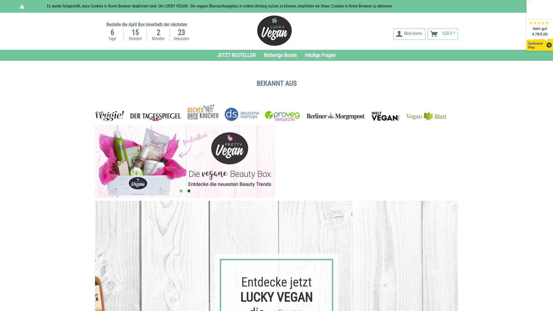 Gutschein für Lucky-vegan: Rabatte für  Lucky-vegan sichern