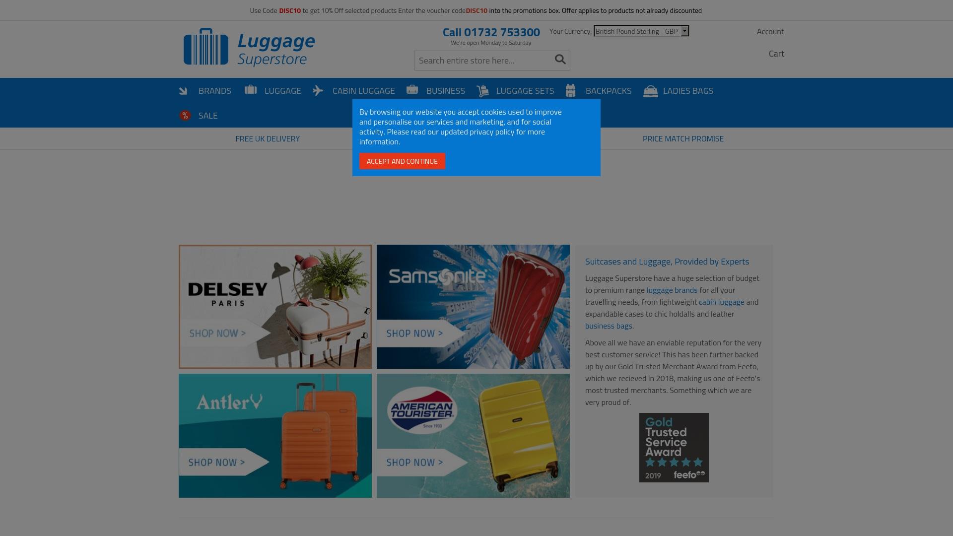Gutschein für Luggagesuperstore: Rabatte für  Luggagesuperstore sichern