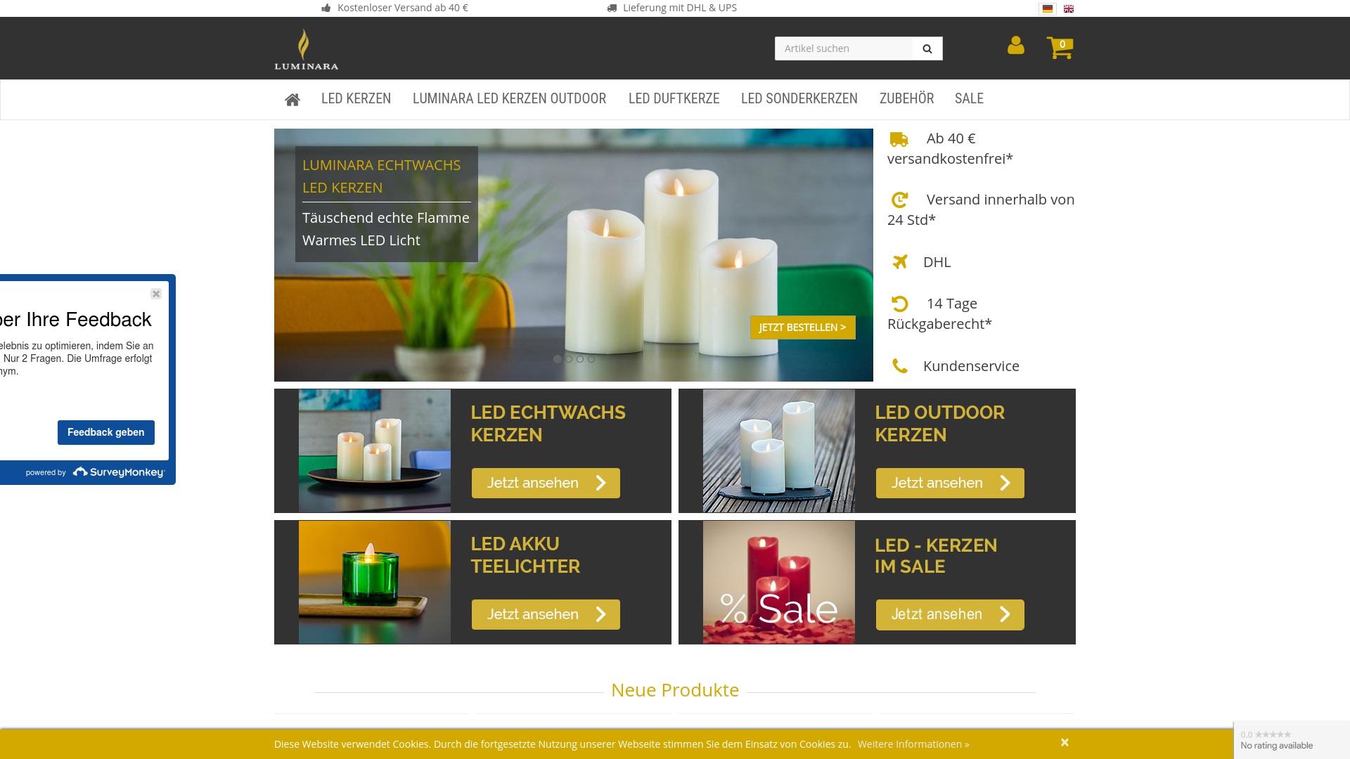 Gutschein für Luminara-kerzen: Rabatte für  Luminara-kerzen sichern