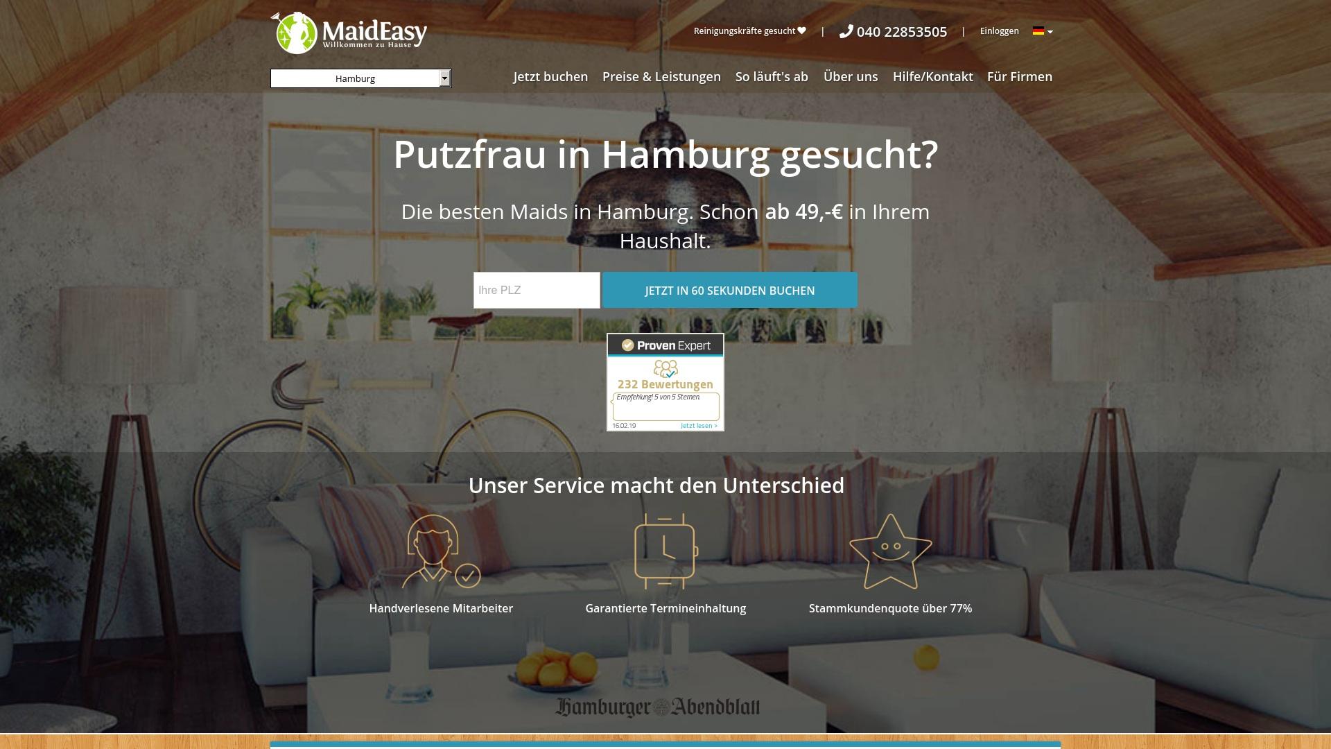 Gutschein für Maideasy: Rabatte für  Maideasy sichern