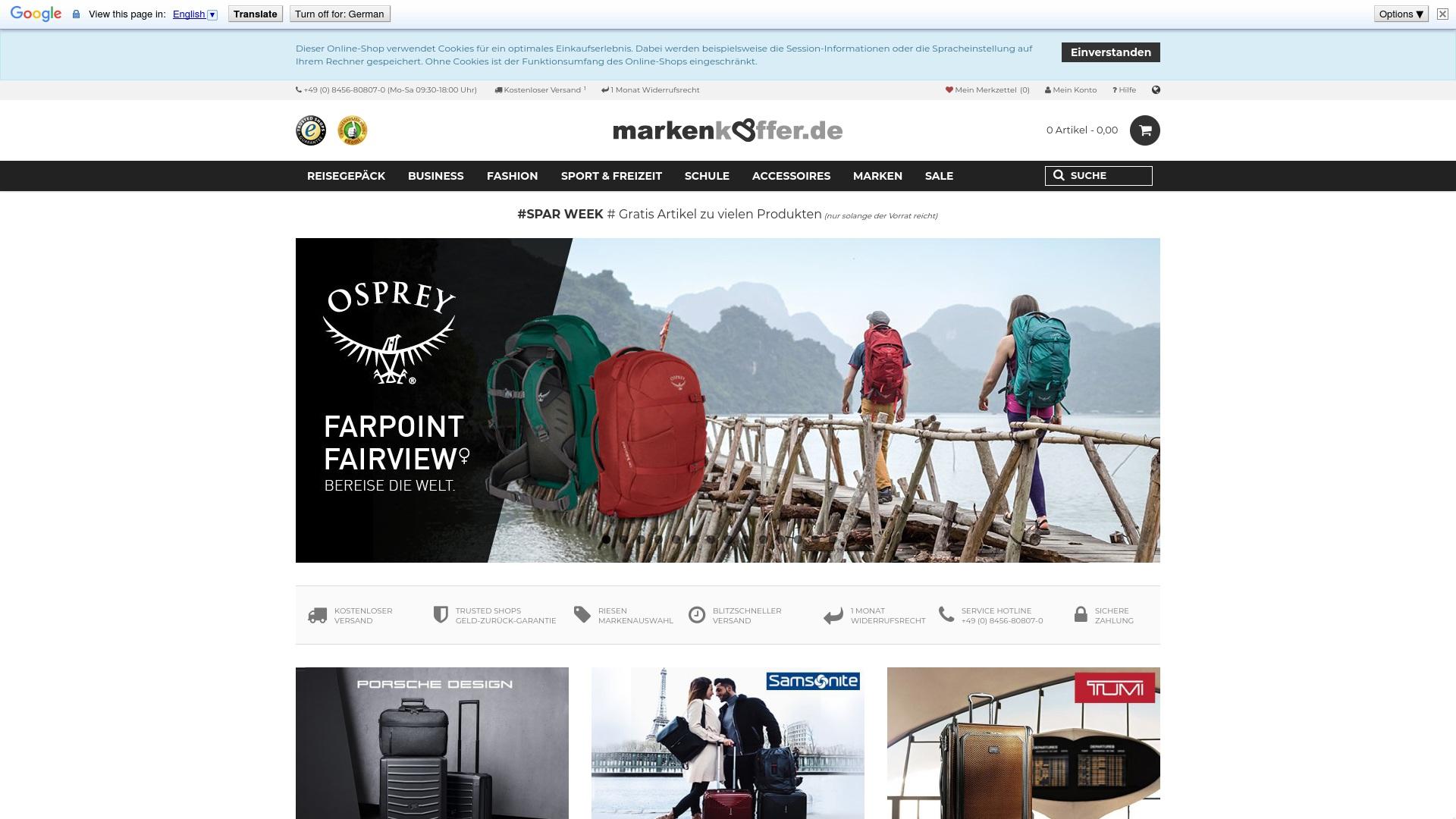 Gutschein für Markenkoffer: Rabatte für  Markenkoffer sichern