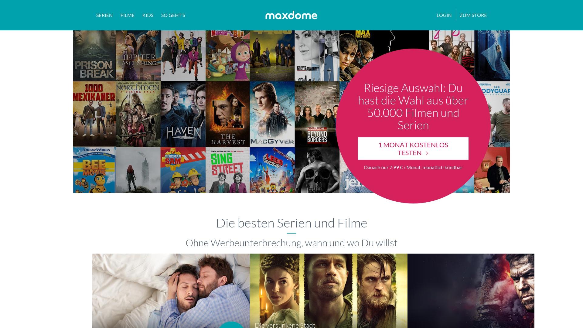 Gutschein für Maxdome: Rabatte für  Maxdome sichern