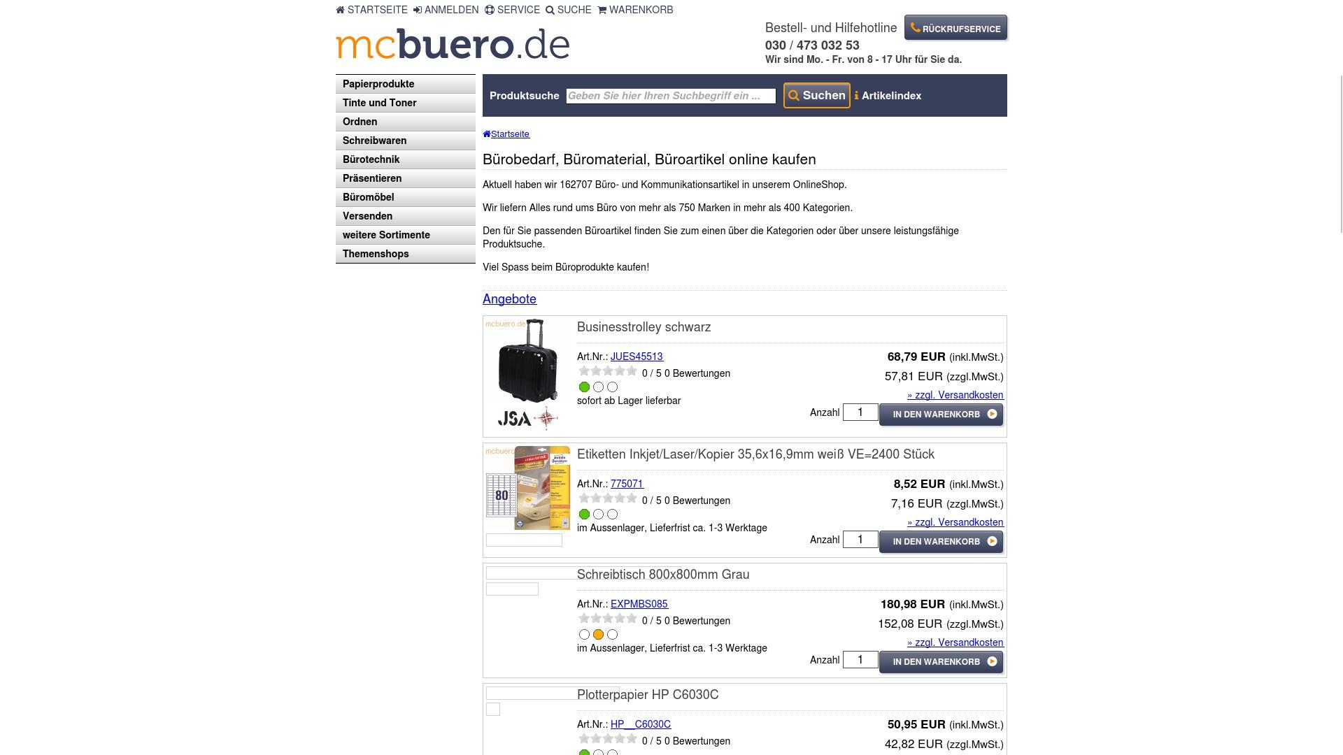 Gutschein für Mcbuero: Rabatte für  Mcbuero sichern