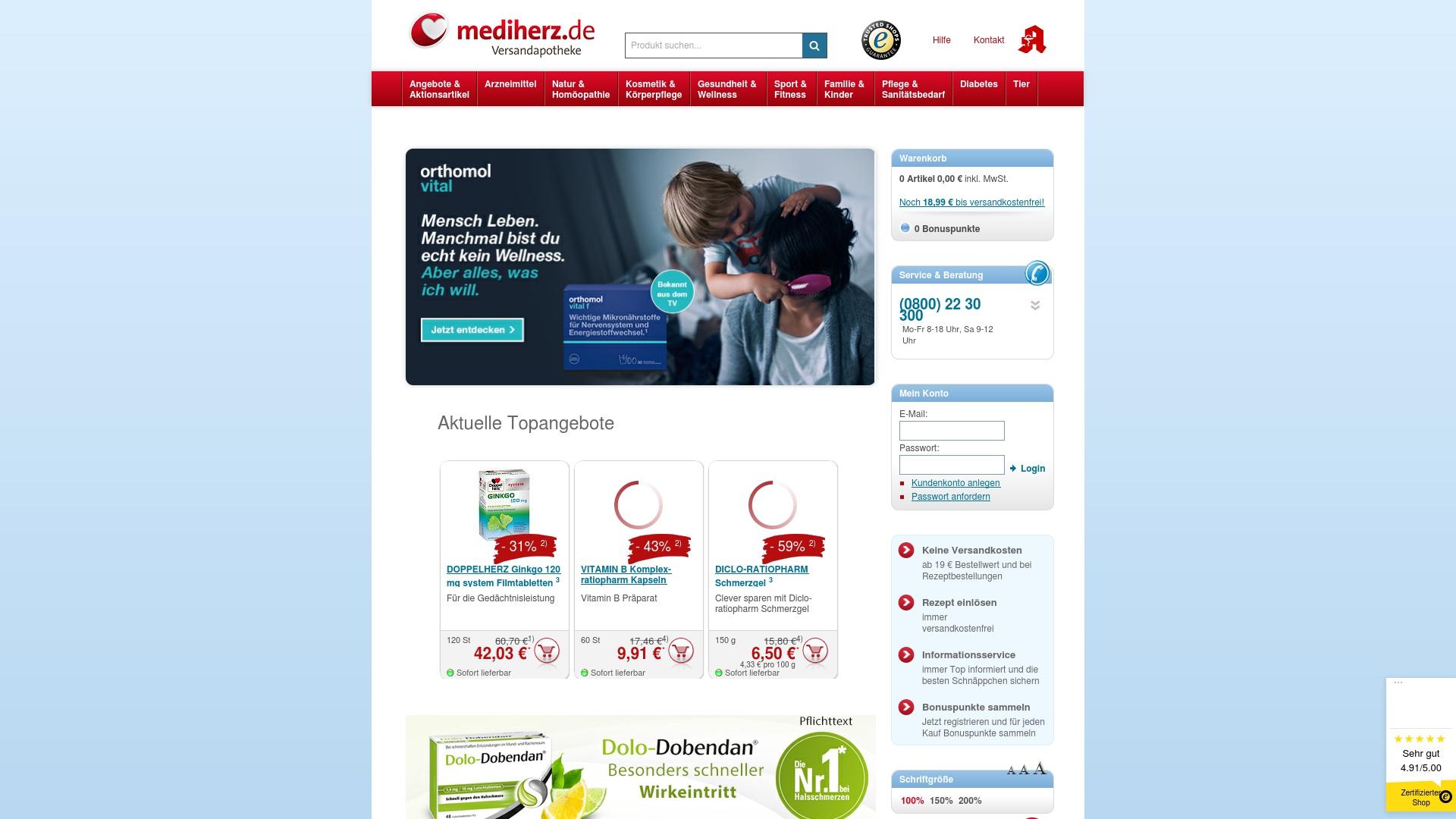 Gutschein für Mediherz-shop: Rabatte für  Mediherz-shop sichern