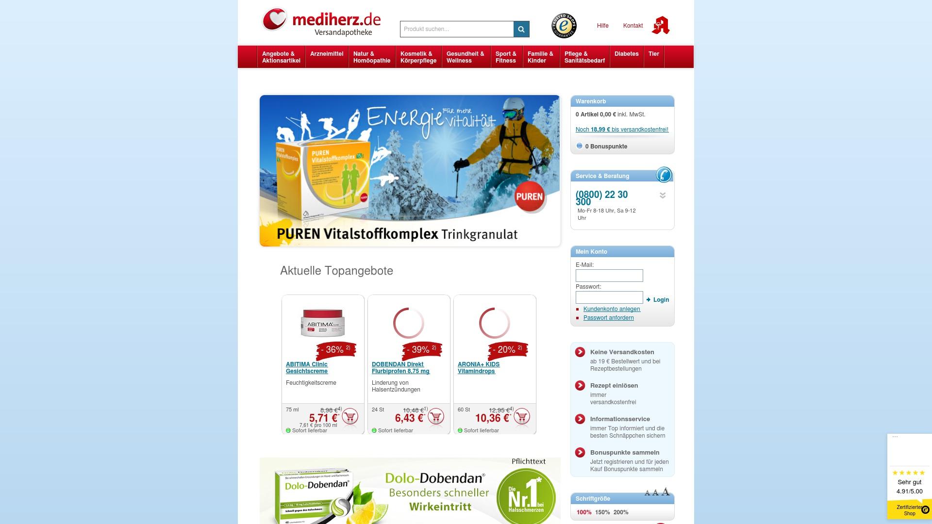 Gutschein für Mediherz: Rabatte für  Mediherz sichern