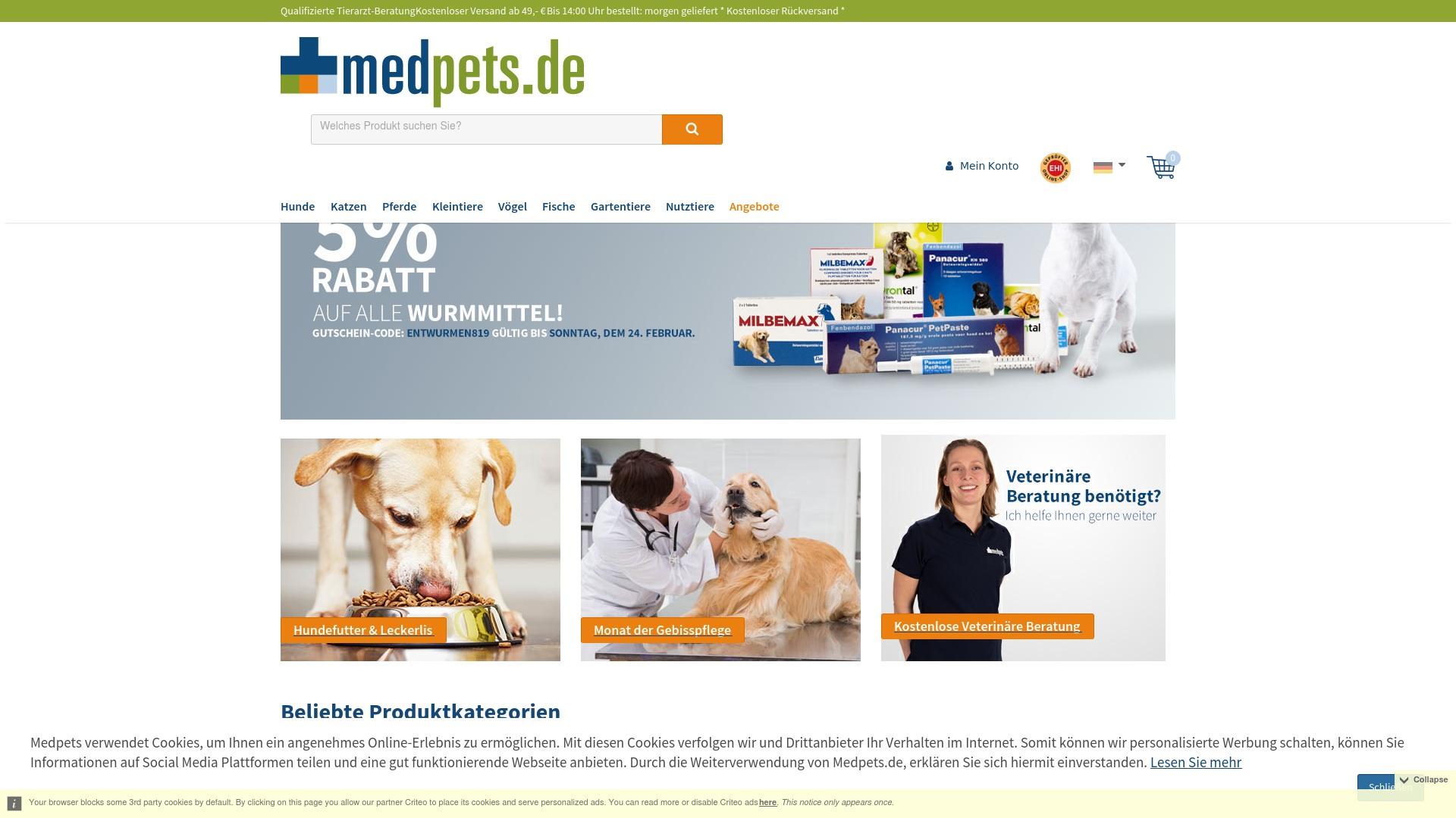 Gutschein für Medpets: Rabatte für  Medpets sichern