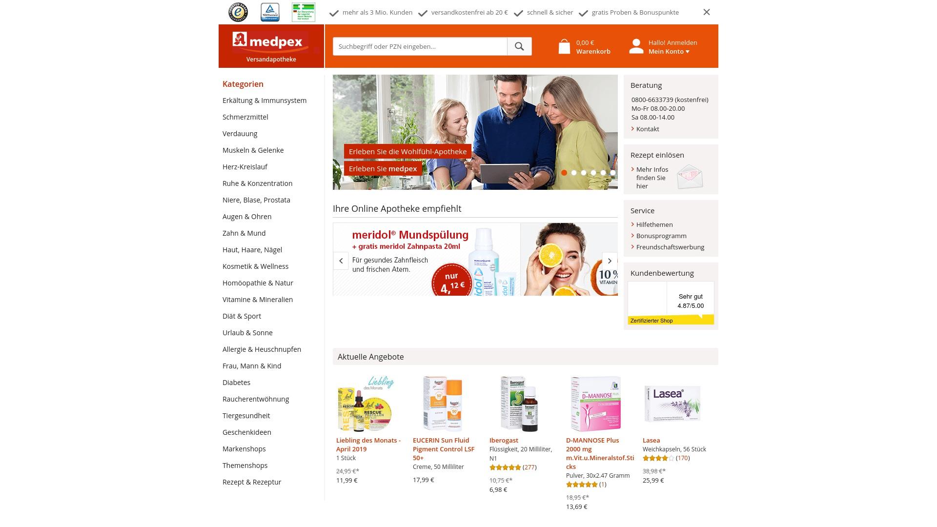 Gutschein für Medpex: Rabatte für  Medpex sichern