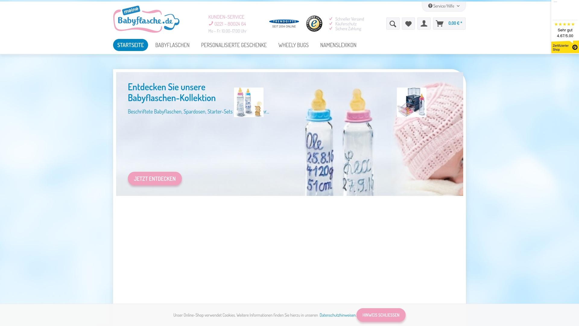 Gutschein für Meinebabyflasche: Rabatte für  Meinebabyflasche sichern